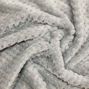 Grey fleece fabric