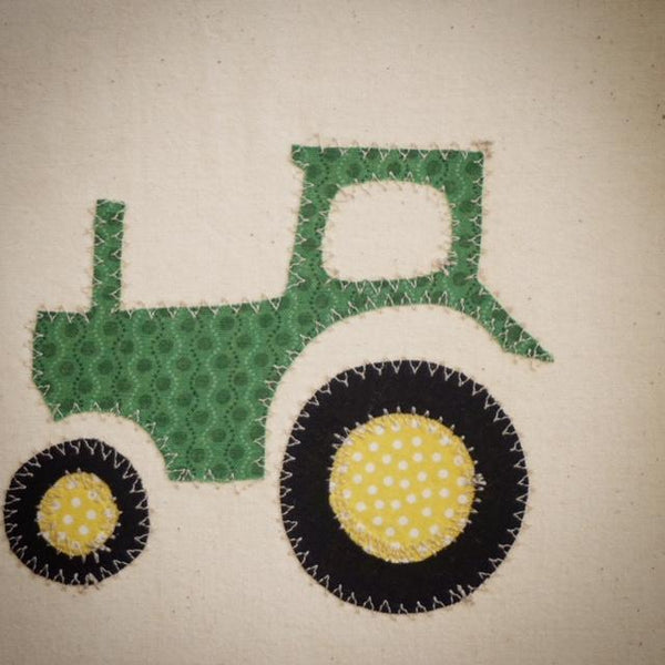Tractor Teepee with striped doors and Tractor / Donkey Appliques