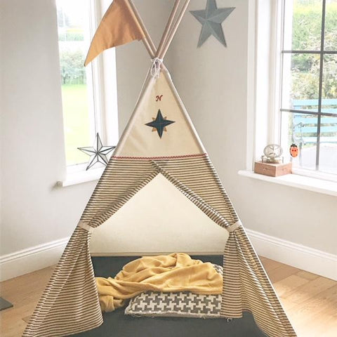 Teepee ( True North Compass Teepee) Black/Ochre