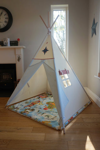 Teepee ( True North Compass Teepee) Blue/Red
