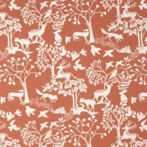 Weighted blanket fabric option orange woodland fabric