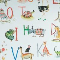 Animal Alphabet fabric for weighted blanket