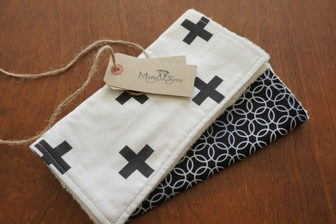 Burp Cloth Organic Bamboo Toweling (2 Pack)