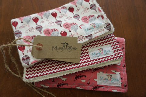Burp cloths 3 pack