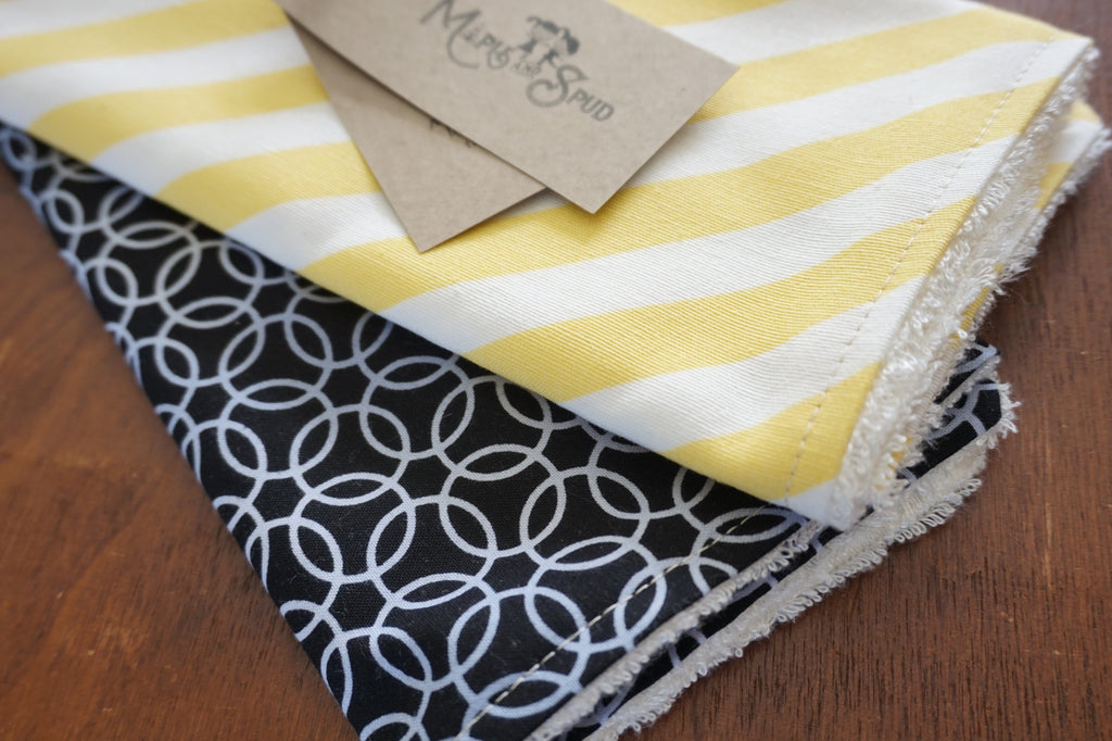 Burp Cloth black and yellow