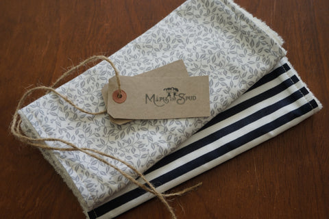Organic burp cloth
