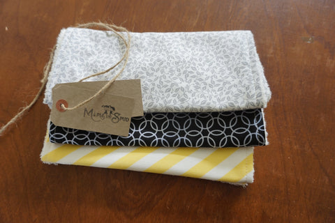 3 pack of burp cloths organic