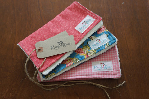 Organic Burp Cloth (3 pack) Butterfly / Pink