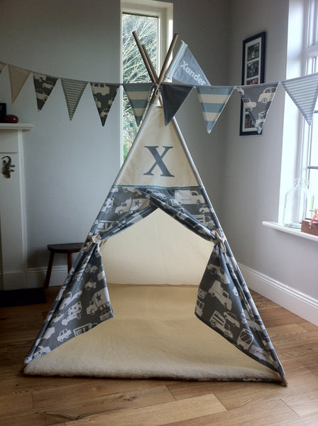 childs teepee with monogram