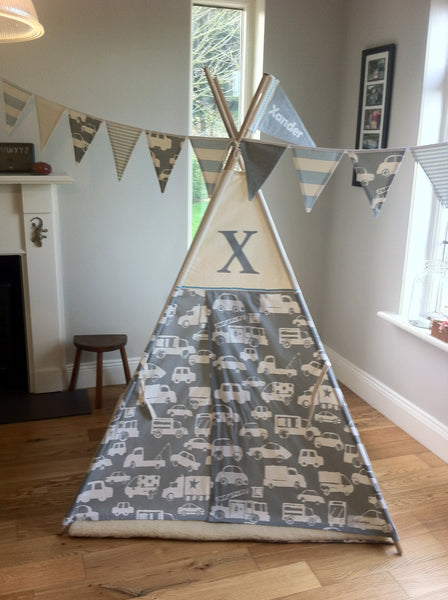 kids teepee grey