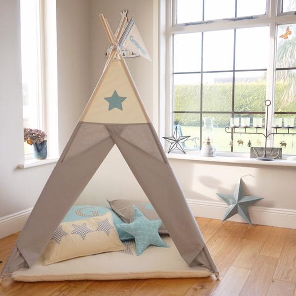 Star Teepee Blue and Grey