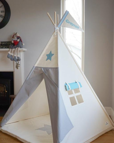 star blue and grey teepee