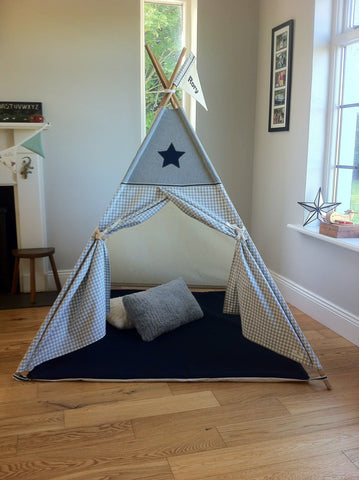 star teepee made by maple and spud designs