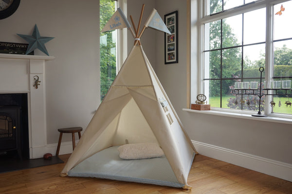 kids teepee made in ireland with fitted mat