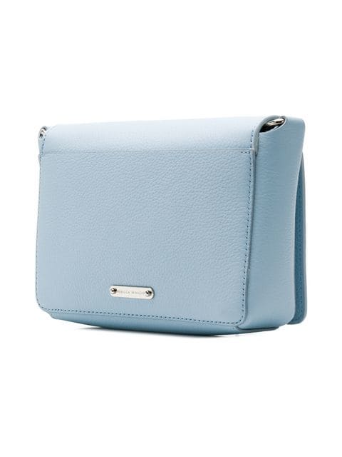Rebecca Minkoff Mab flap leather crossbody bag powder blue