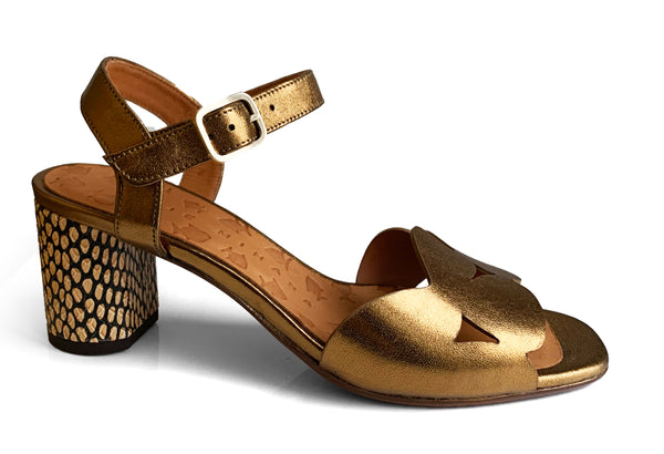 Chie Mihara Loran bronze leather sandal