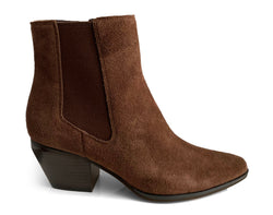 What For Paris Scavo brown suede texan bootie