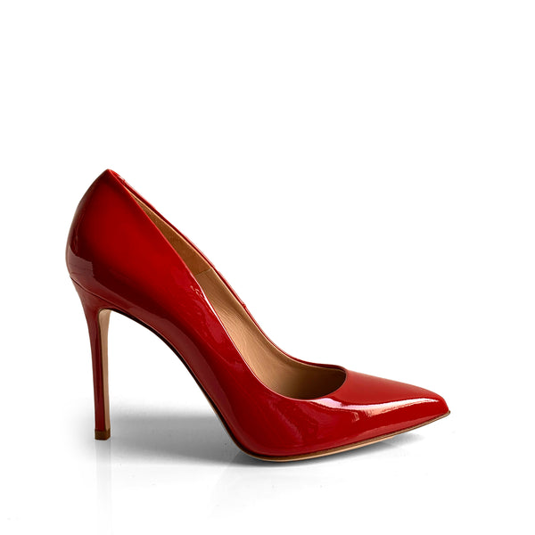 Sergio Levantesi Myss red patent leather pump