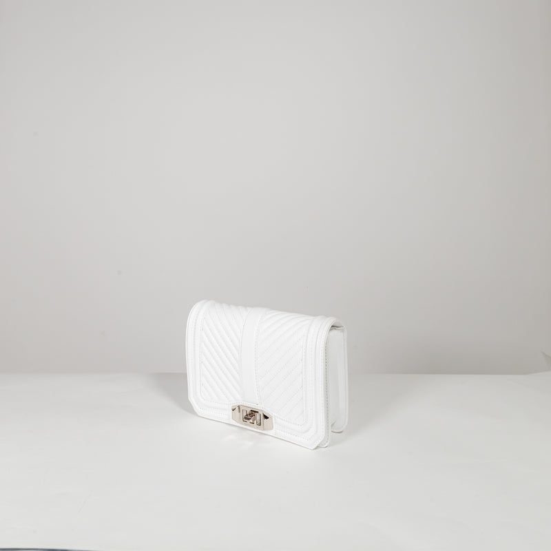 Rebecca Minkoff white leather mini crossbody