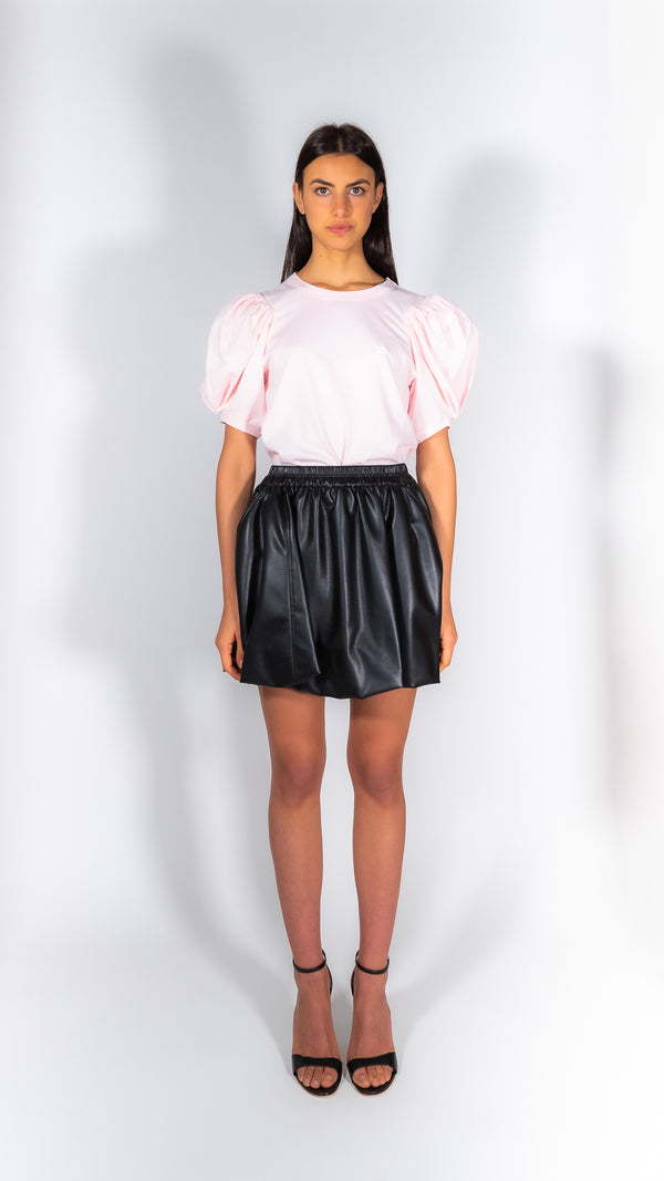 Philosophy di Lorenzo Serafini black faux leather mini skirt