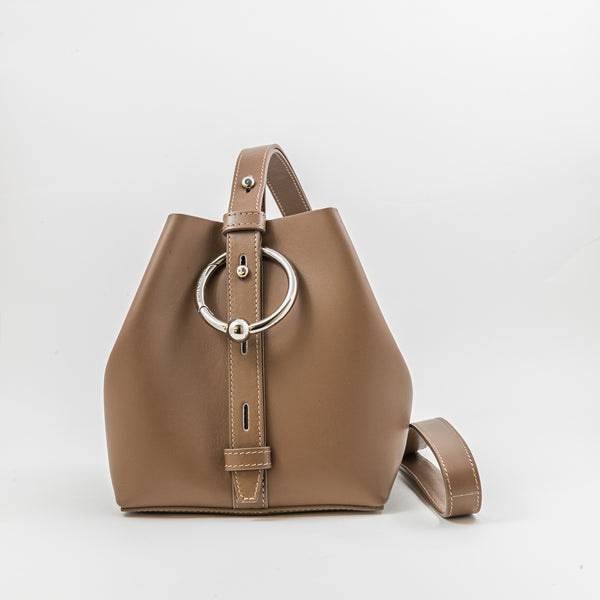Rebecca Minkoff Kate camel leather mini bucket bag