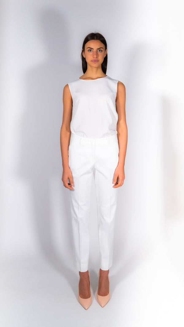 Cappellini by Peserico white cotton pants