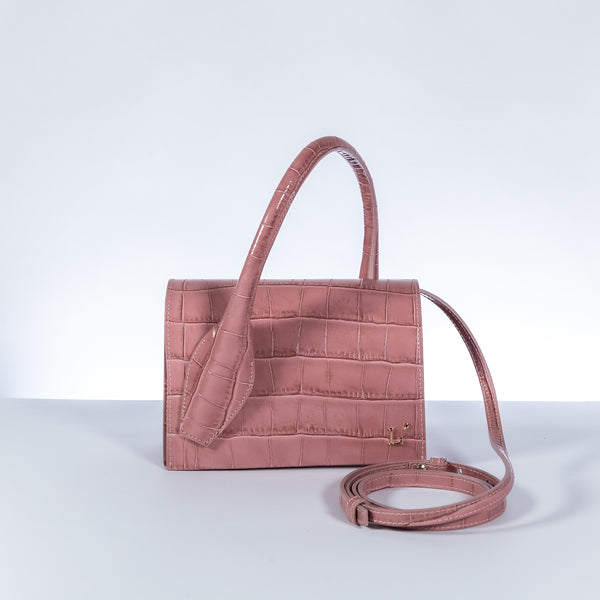 L'Autre Chose pink leather crossbody bag