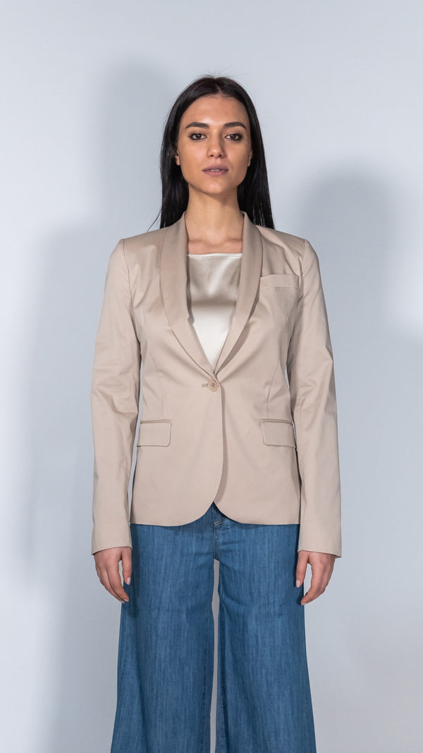 Merci Italia beige single-breasted blazer