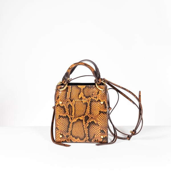 Rebecca Minkoff black and brown leather crossbody bag