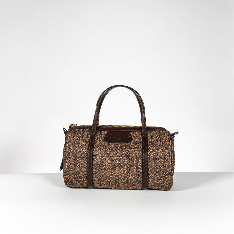 Lancaster Paris brown and leather color shopping bag