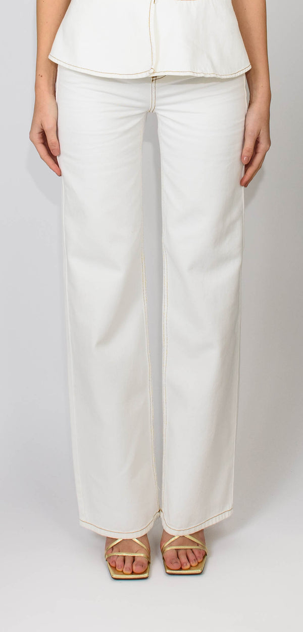 L'AUTRE CHOSE WHITE TROUSERS