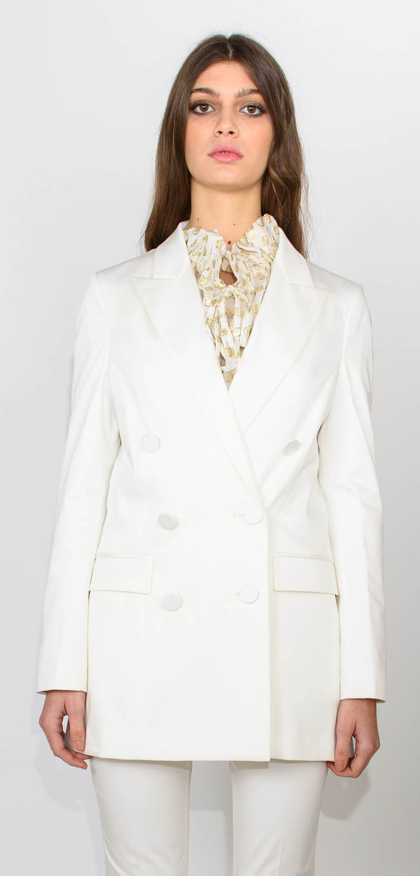 L'AUTRE CHOSE WHITE DOUBLE BREAST JACKET