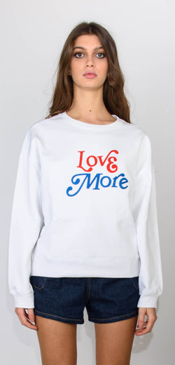Philosophy di Lorenzo Serafini White sweatshirt long sleeves with writing