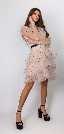 PHILOSOPHY DI LORENZO SERAFINI PINK DRESS