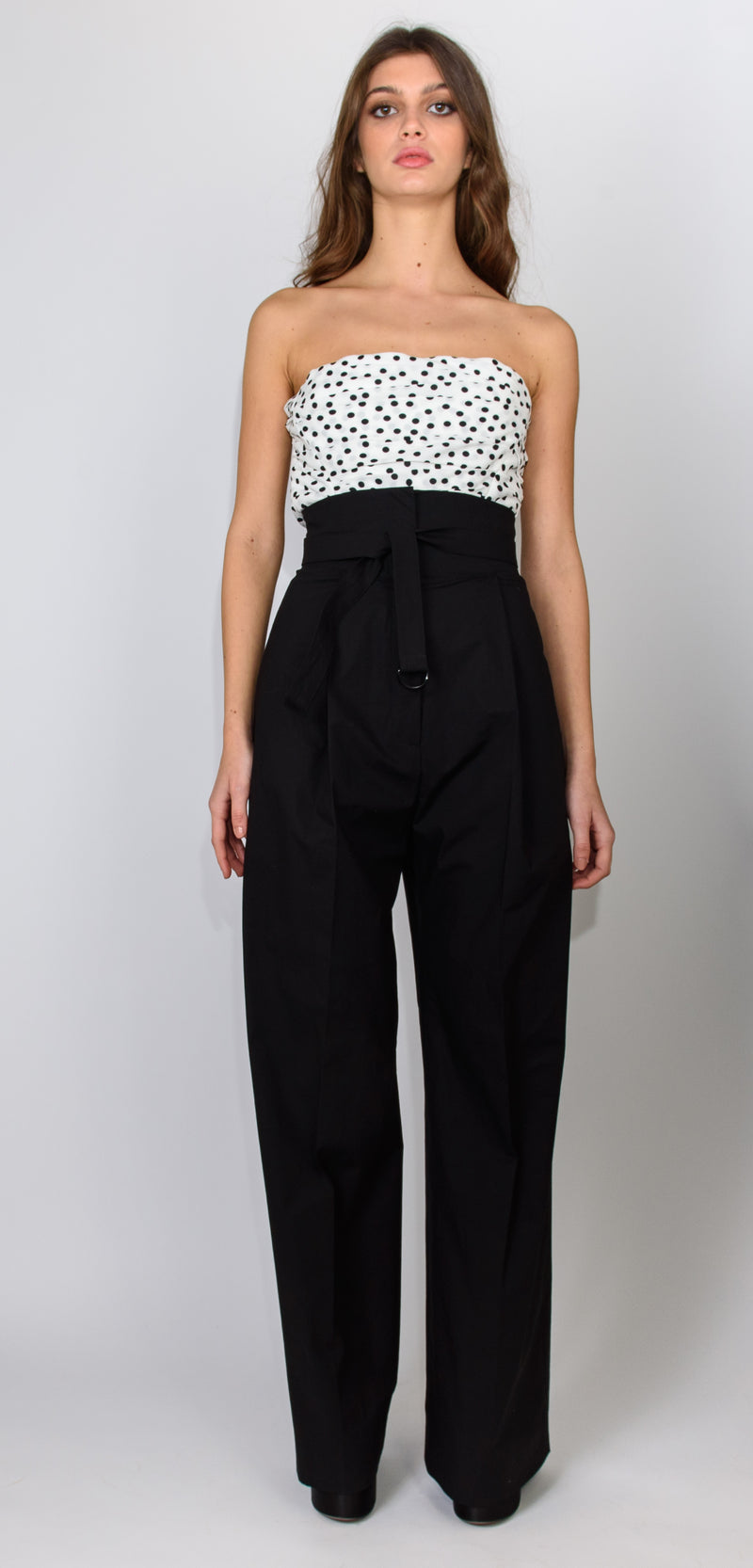 PHILOSOPHY DI LORENZO SERAFINI BLACK TROUSERS