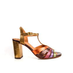 CHIE MIHARA BALTA MULTICOLORED SANDAL - with ankle strap