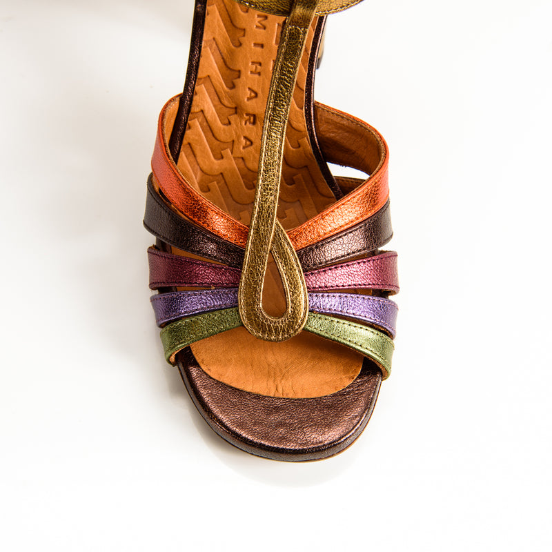 Chie Mihara Balta multicolored sandal with ankle strap
