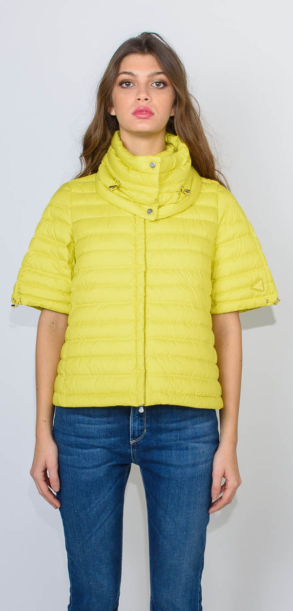 ADD LIME GOOSE DOWN PADDED JACKET - with short sleeves