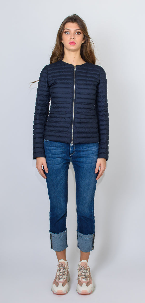 ADD Navy goose down padded jacket
