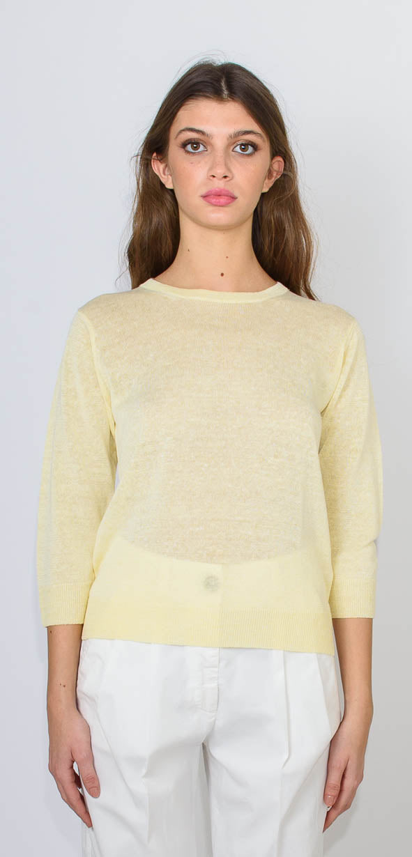 CAPPELLINI BY PESERICO YELLOW SHIRT