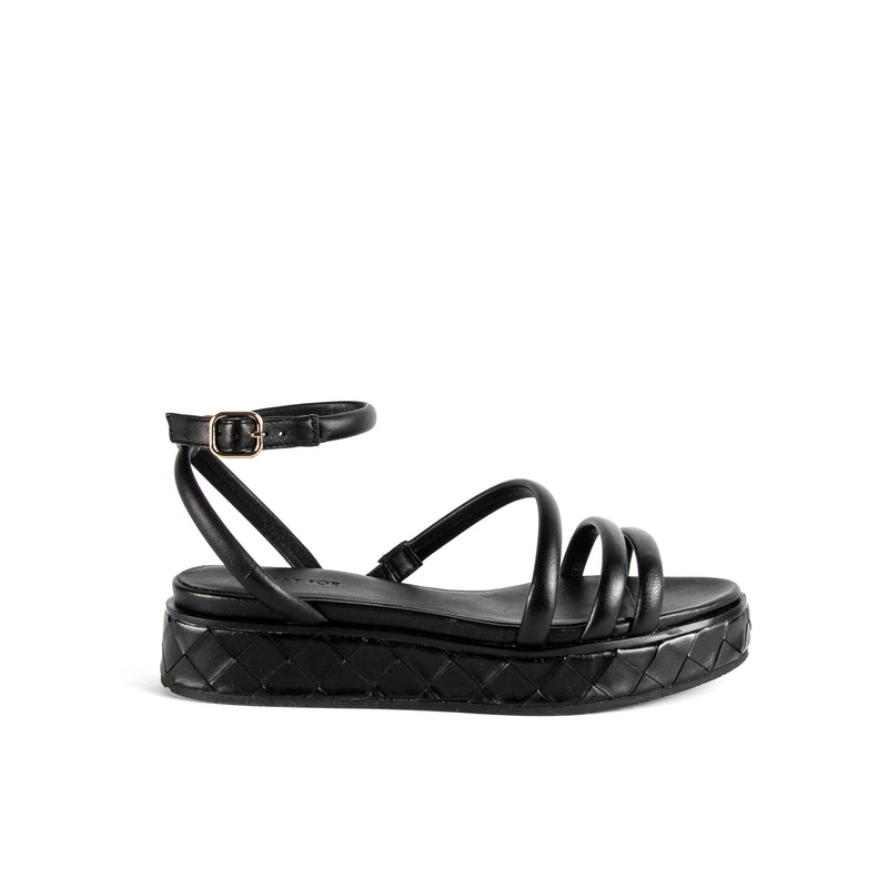 WHAT FOR PARIS DALLEN BLACK SANDAL