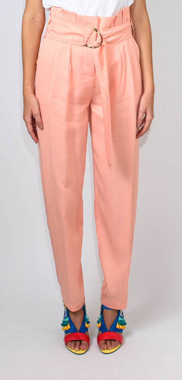 BRERAS MILANO HIGH-WAISTED SALMON TROUSERS