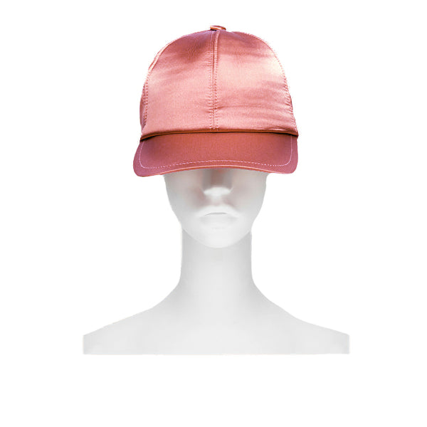 L'Autre Chose antique pink silk satin baseball cap