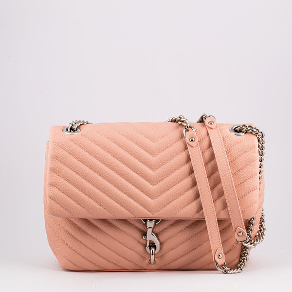 Rebecca Minkoff Edie pink leather crossbody bag