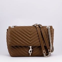 Rebecca Minkoff Edie camel leather crossbody bag