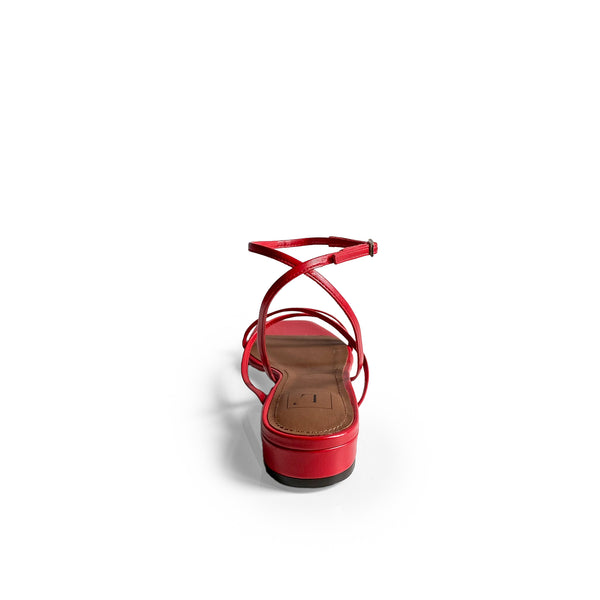 L'AUTRE CHOSE RED FLAT SHOES