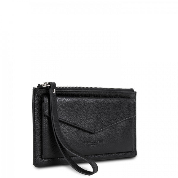 Lancaster Paris Black petite pochette with zip closure
