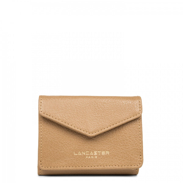 LANCASTER PARIS NATURAL MINI WALLET