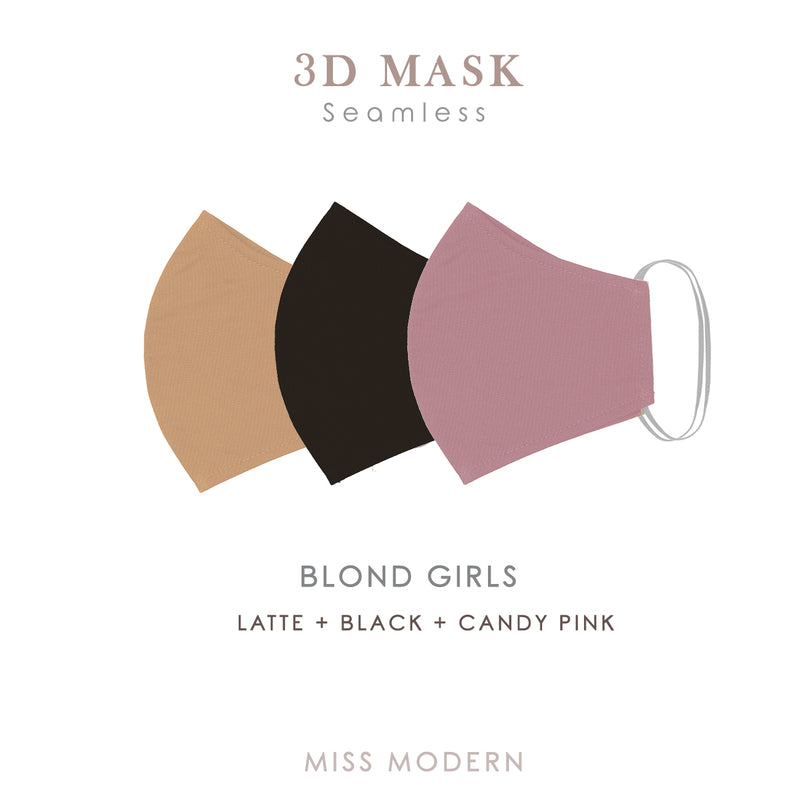 3D Seamless Masks - BLOND GIRL (3pcs) - MISS MODERN