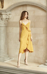 Baby Wrap Dress - Mustard Yellow-Dress-MISS MODERN-FREESIZE-Yellow Mustard-MISS MODERN